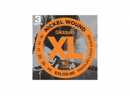 DADDARIO EXL110-3D El. Nickel Round W. .010-046 Regular Light