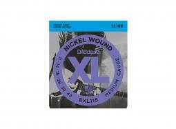 DADDARIO EXL115 El. Nickel Round W. .011-.049 Jazz-Rock