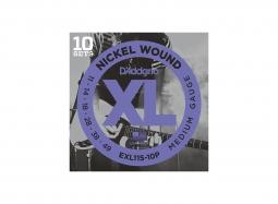 DADDARIO EXL115-10P El. Nickel Round W. .011-.049 Jazz Rock