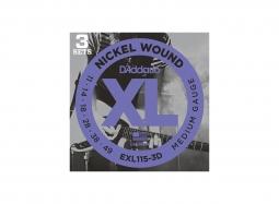 DADDARIO EXL115-3D El. Nickel Round W. .011-.049 Jazz Rock