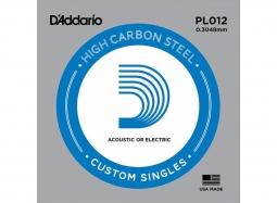 Daddario PL012 Guitar Electric/Acoustic Plain Steel
