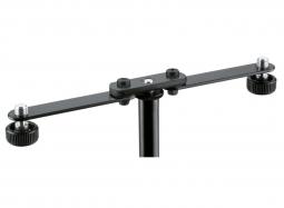 K&M 23510 Ergänzungsschiene für 2 Mikrofone beweglich