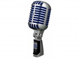 SHURE Super 55 Deluxe Gesangsmikrofon, Superniere,silber