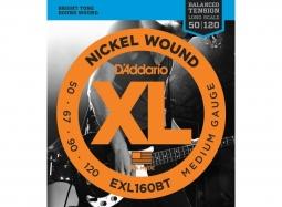 Daddario EXL160BT Nickel Wound, Balanced Tension Medium, 50-120