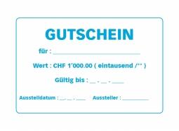 Gutschein CHF 1000