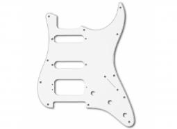 Fender Pickguard Stratocaster HSS, weiss, 11-loch, dreilagig