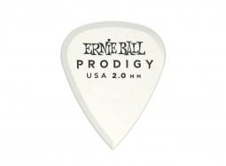 Ernie Ball White Standard Prodigy 2.0mm Picks 6-Pack