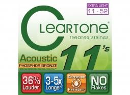 Cleartone EMP Coated Phosphor Bronze Acoustic Guitar Strings 7411 Custom Light 11-52