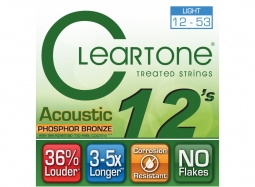 Cleartone EMP Coated Phosphor Bronze Acoustic Guitar Strings 7412 Light 12-53