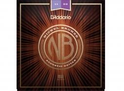 Daddario NB1152 Ac. .011-.052 Set Nickel Bronze Wound, Custom Light