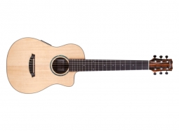 Cordoba Mini 2 CE Gitarre mit Tonabnehmer Fichte-Ebenholz