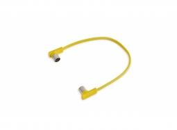 """RockBoard Flat MIDI Cable - 30 cm / 11 13/16"""" - yellow"""