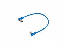 "RockBoard Flat MIDI Cable - 30 cm / 11 13/16"" - Blue"