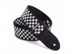 Dunlop D-38 Series Nylon 50mm Black & White Check