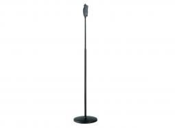 K&M Mikrofonstativ 26085 schwarz mit Rundsockel, Onehand