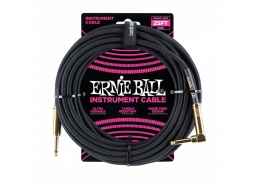 Ernie Ball Instrument Cable 25ft Straight-Right schwarz