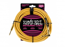 Ernie Ball Instrument Cable 25ft Straight-Right gold
