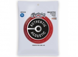 Martin MA550TPK3 Lifespan Treated Phosphor Bronze Authentic Acoustic Guitar Strings Medium 13-56