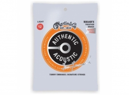 Martin MA540FX Flexible Core Phosphor Bronze Authentic Acoustic Guitar Strings Light 12-54