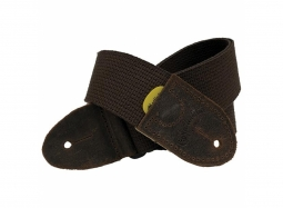 C.F. MARTIN Woven Strap Brown with Brown Leather Ends