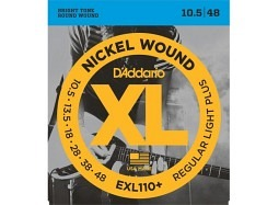 Daddario EXL110+ El. Nickel Round W. .0105-.048 Regular Light Plus