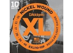 DADDARIO EXL110-10P El. Nickel Round W. .010-.046 Regular Light