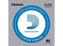 Daddario PL016 Guitar Electric/Acoustic Plain Steel
