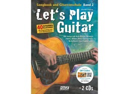 HAGE Book Let's Play Guitar B2+DVD+2CD deutsch