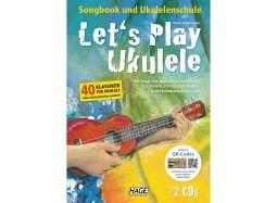 HAGE Book Let's Play Ukulele +DVD+2CD deutsch