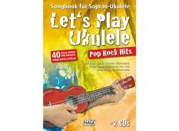 HAGE Book Let's Play Ukulele Pop Rock +DVD+2CD deutsch