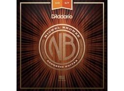 Daddario Ac. .010-.047 Set Nickel Bronze Wound, Extra Light