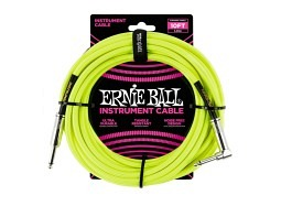 Ernie Ball Instrument Cable 10ft Straight-Right neongelb