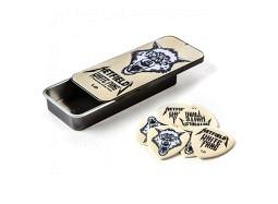DUNLOP HETFIELD'S White Fang, Flow Standard 1.0mm , Tin Box of 6 Picks