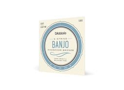 Daddario EJ69 Banjo 5 Strings Phospor Bronze Bluegrass light Loop Ends
