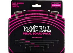 ERNIE BALL Patch-Cable Flat-Angle Multi-Pack Black