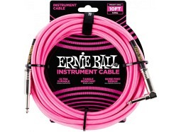 Ernie Ball Instrument Cable 10ft Straight-Right neonpink