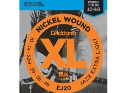 DADDARIO EJ20 Jazz Nickel Round Wound Extra Light