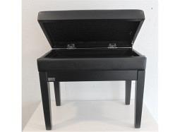 SMT Pianobank Black matt mit Skai black + STORAGE